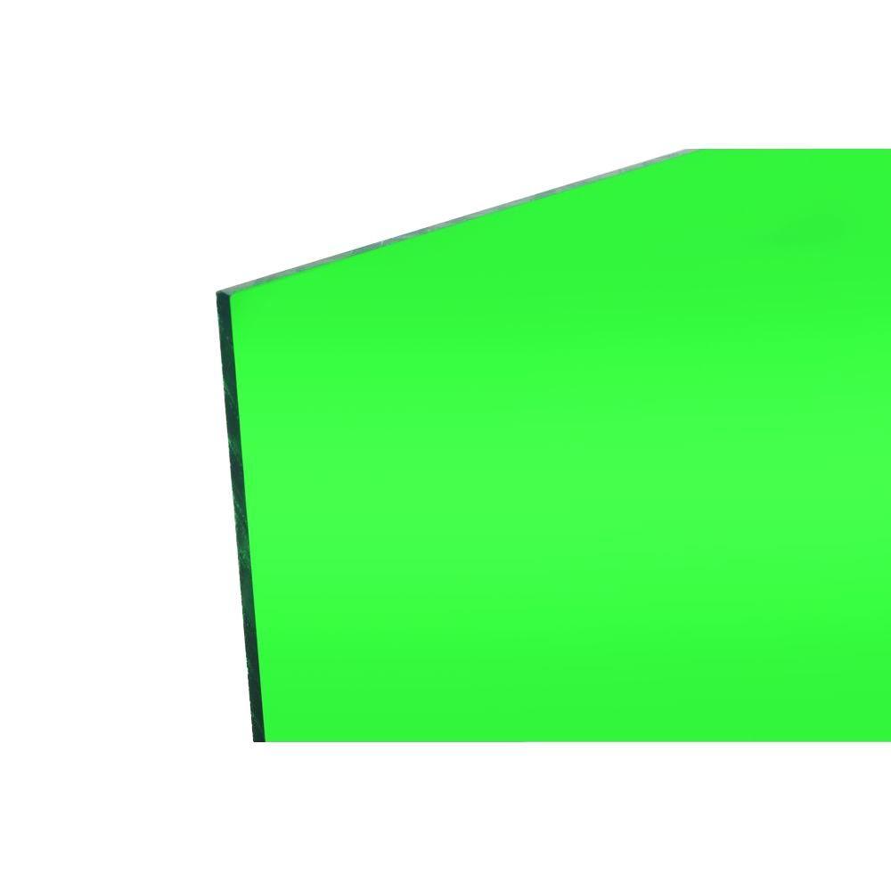 FABBACK 48 in. x 96 in. x .118 in. Green Acrylic Mirror