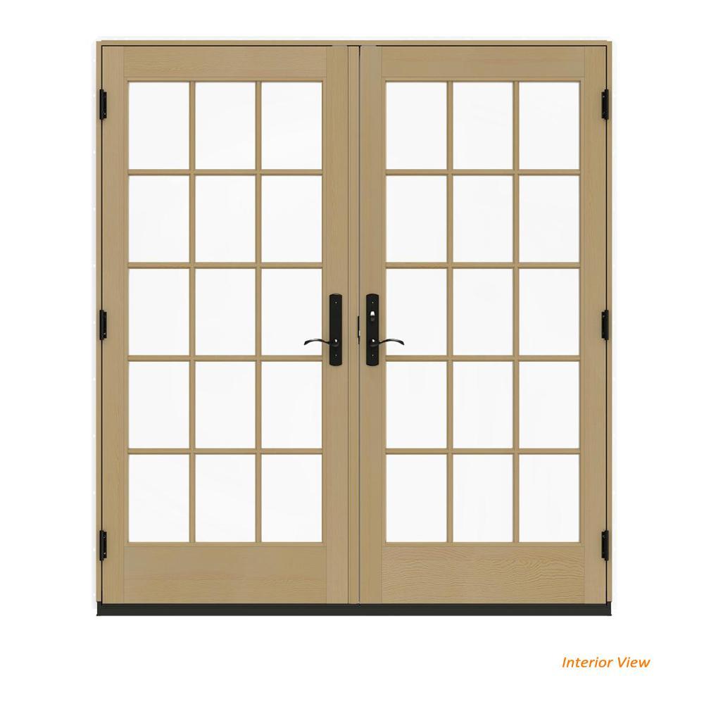 72 X 80 Wood French Patio Door Patio Doors Exterior Doors