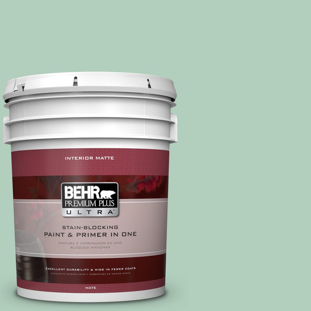 BEHR Premium Plus Ultra 5 gal. #T13-12 Jazzy Jade Flat/Matte Interior Paint