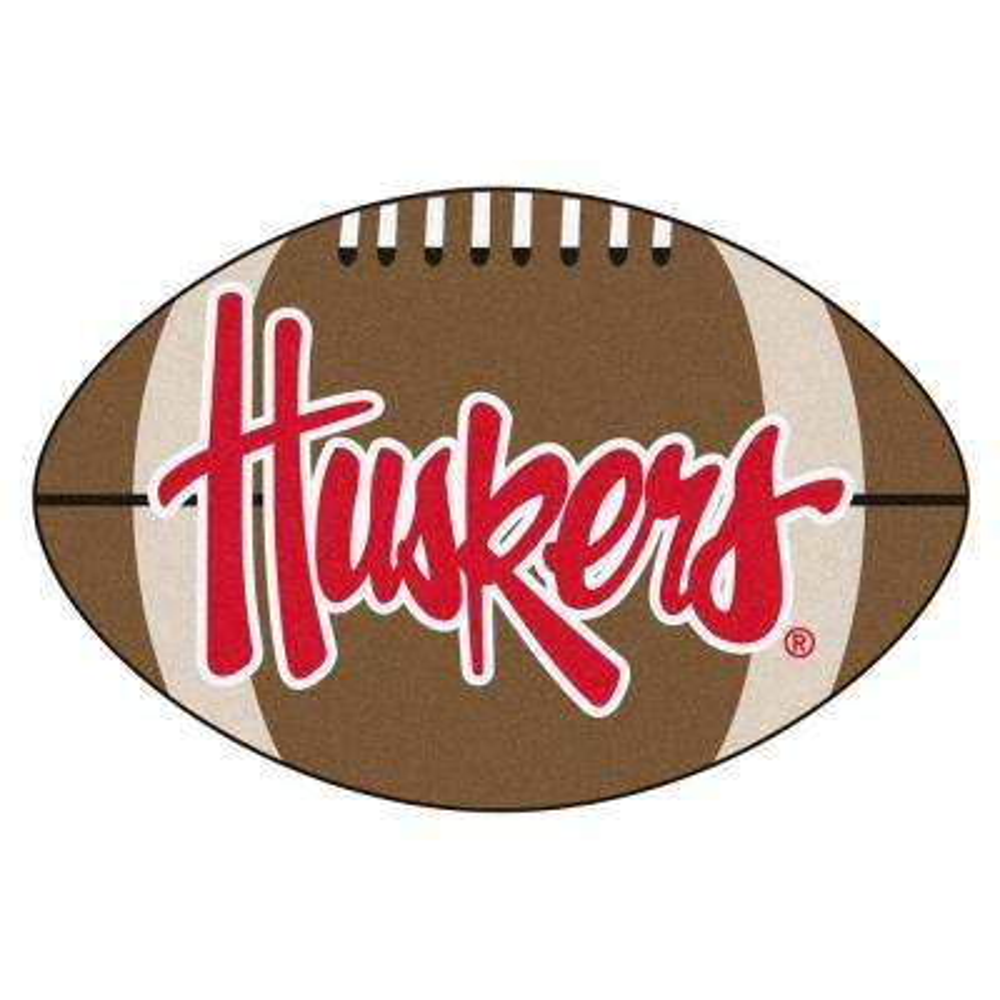 NCAA University of Nebraska 20.5 in. 32.5 in. Football Mat Area Rug