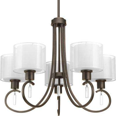 Invite Collection 5-Light Antique Bronze Chandelier
