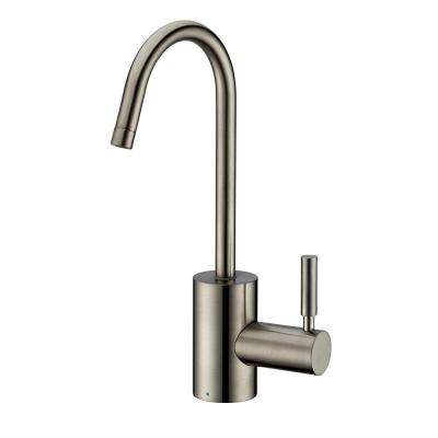 Single-Handle Cold Water Dispenser with Contemporary Spout in Brushed Nickel