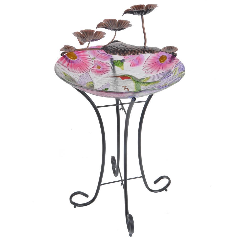 Peaktop Outdoor Hummingbird Fusion Glass Fountain