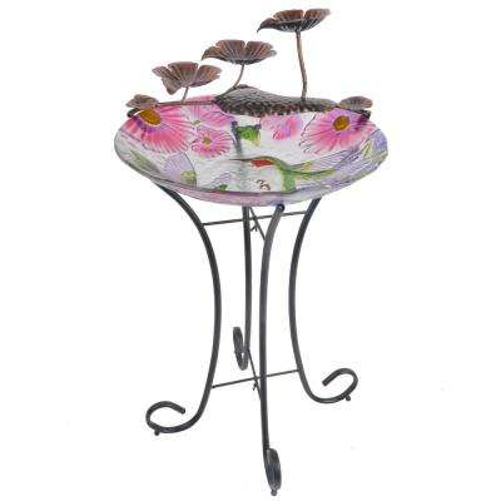 Outdoor Hummingbird Fusion Glass Fountain