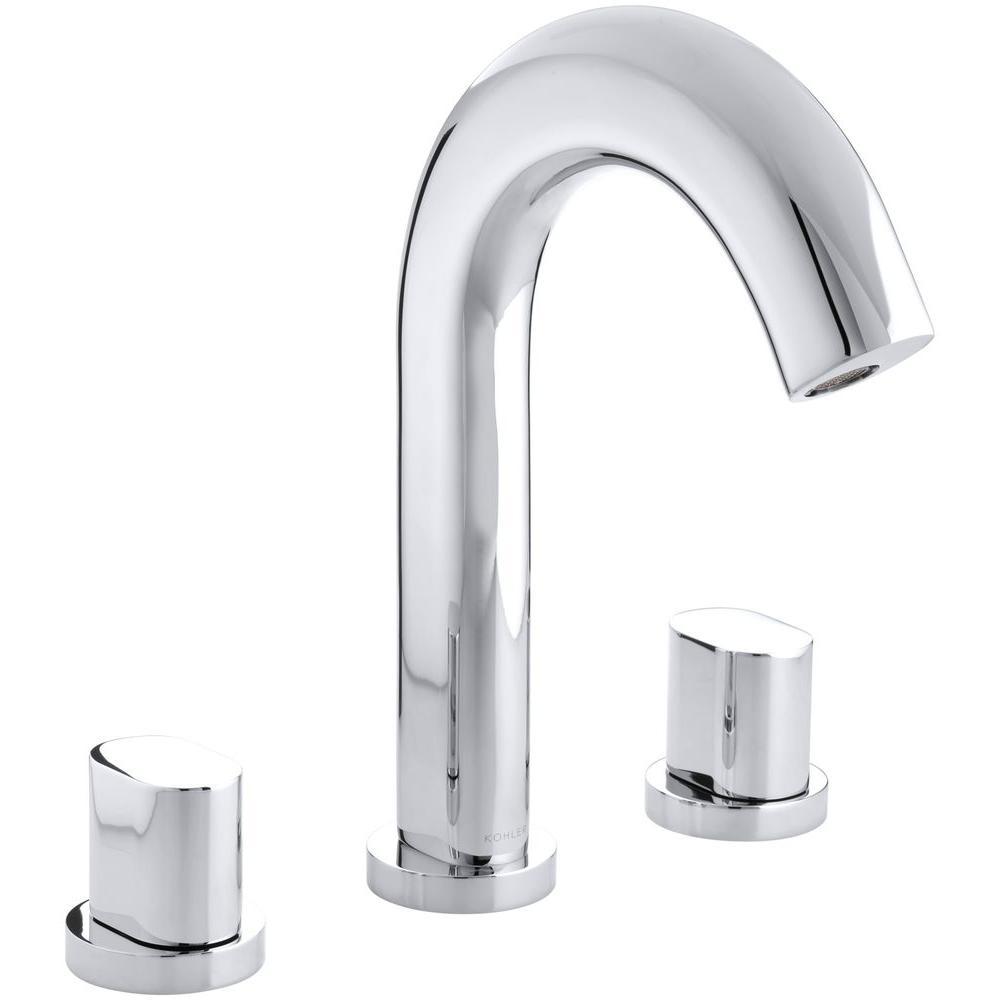 KOHLER Oblo Deck-Mount Bath Faucet Trim in Polished Chrome (Valve Not Included)