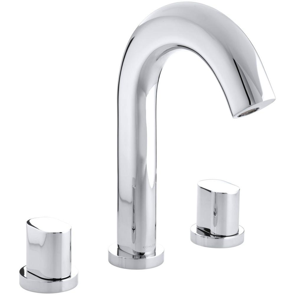 Oblo Deck-Mount Bath Faucet Trim in Polished Chrome (Valve Not Included)