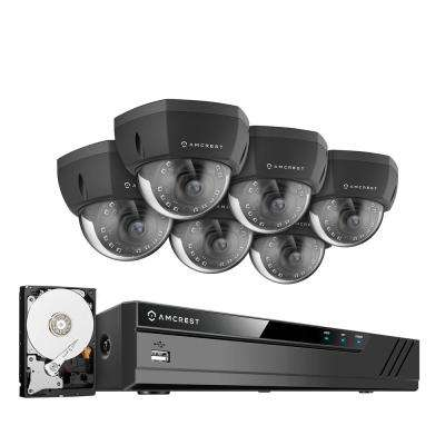 Plug & Play H.265 8-Channel 4K NVR 8MP Surveillance System with 6 Wired POE Dome Cameras and 2TB Hard Drive