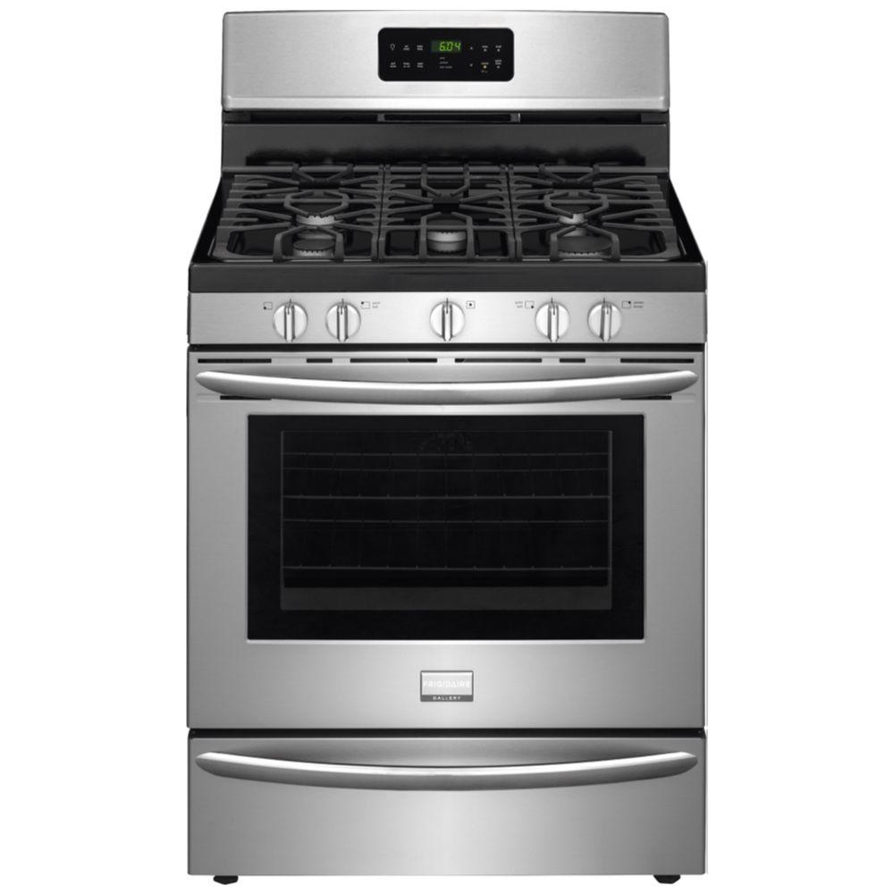 Frigidaire Gallery 30 in. 5.0 cu. ft. Gas Range with Self-Cleaning QuickBake Convection in Stainless Steel