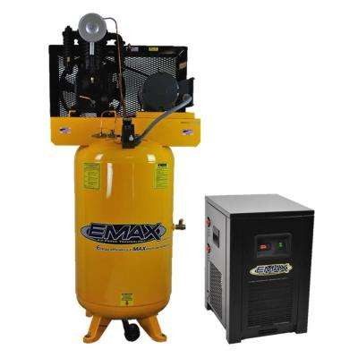 Industrial PLUS Series 80 Gal. 5 HP 3-Phase 2-Stage Stationary Electric Air Compressor with 30 CFM Dryer
