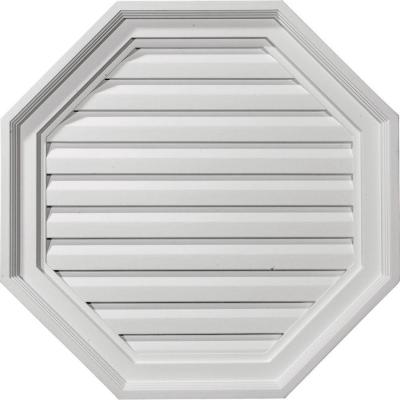 22 in. x 22 in. Octagon Primed Polyurethane Paintable Gable Louver Vent Non-Functional