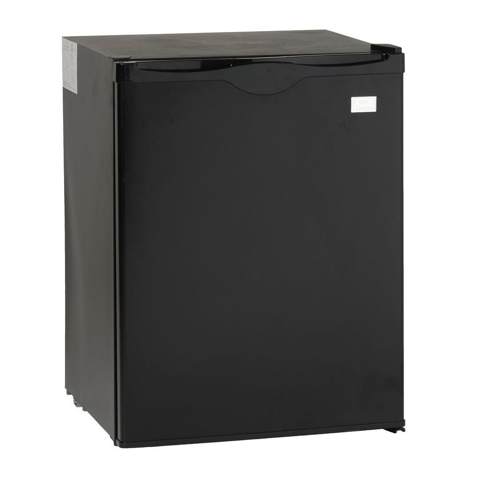 Avanti 2.2 cu. ft. Mini Fridge in Black Avanti compact refrigerator is the ideal unit to use in dorm rooms, offices and other spaces with limited room. It provides the functionality and features you would expect in a premium refrigerator. Features adjustable shelves and two door bins that can hold small bottles and cans. This refrigerator is designed for recessed installation only. Color: Black.