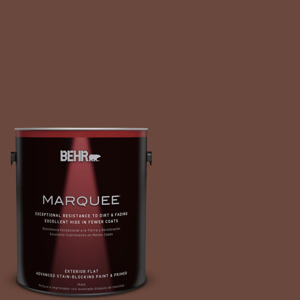 1-gal. #BXC-45 Classic Brown Flat Exterior Paint