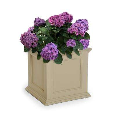Fairfield 20 in. Square Clay Plastic Planter