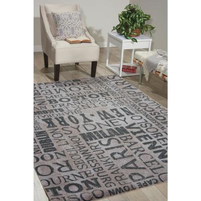 Pattern Destinations Graphite 5 ft. x 7 ft. Abstract Modern Area Rug