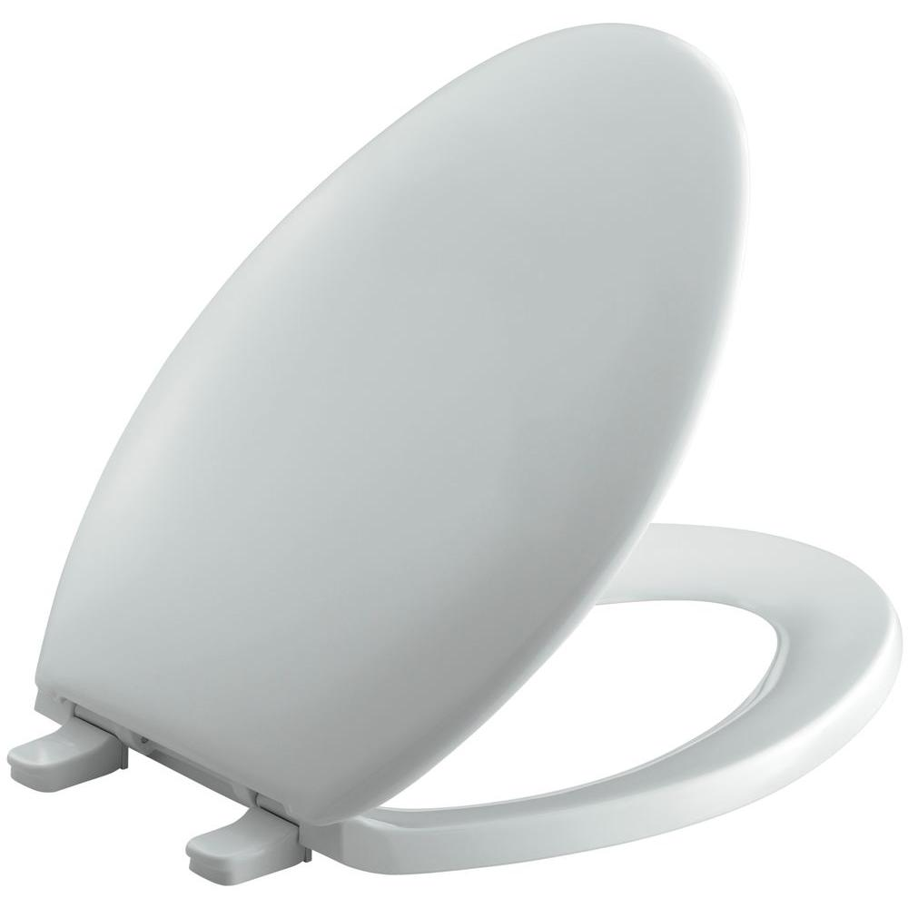Bancroft Elongated Closed Front Toilet Seat in Ice Grey