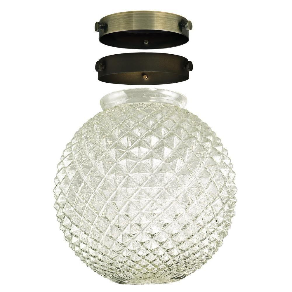 Westinghouse 8-1/4 in. Hand-Blown Diamond Cut Clear Glass...