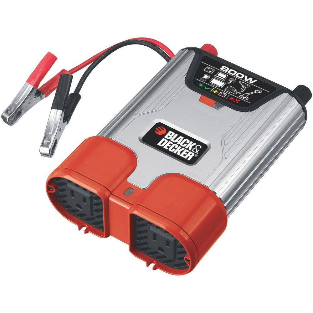 BLACK+DECKER 800-Watt Dual Outlet Power Inverter