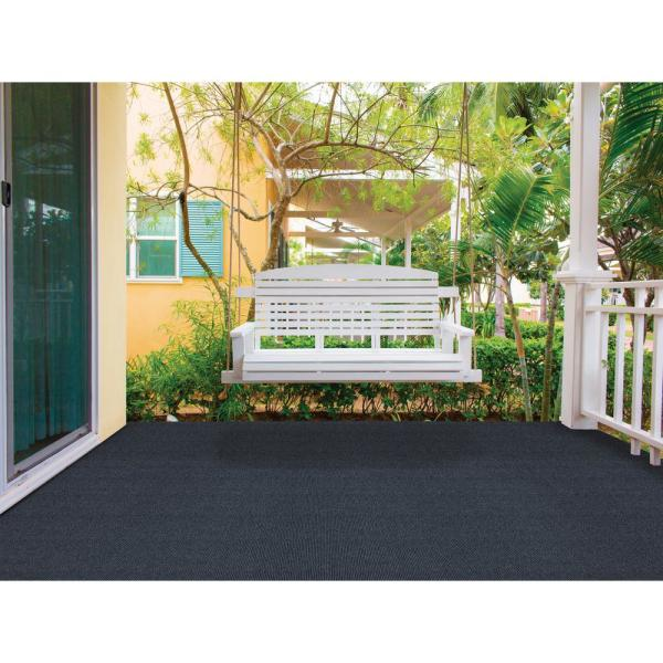 Trafficmaster Elevations Color Ocean Blue Ribbed Texture Indoor Outdoor 12 Ft Carpet 7pd5n550144h The Home Depot