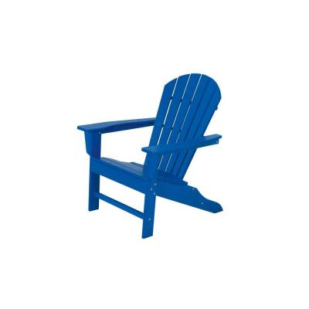 South Beach Pacific Blue Plastic Patio Adirondack Chair