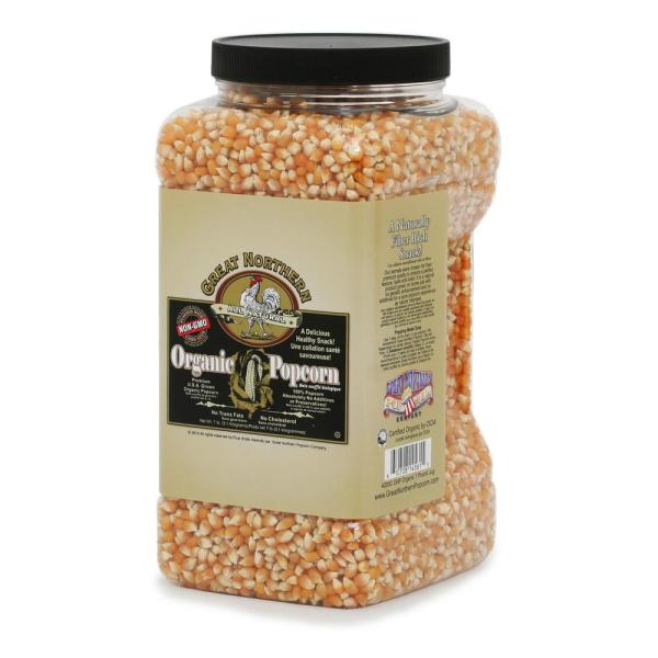 Great Northern 112 oz. All-Natural Organic Yellow Gourmet Popcorn HWD630201