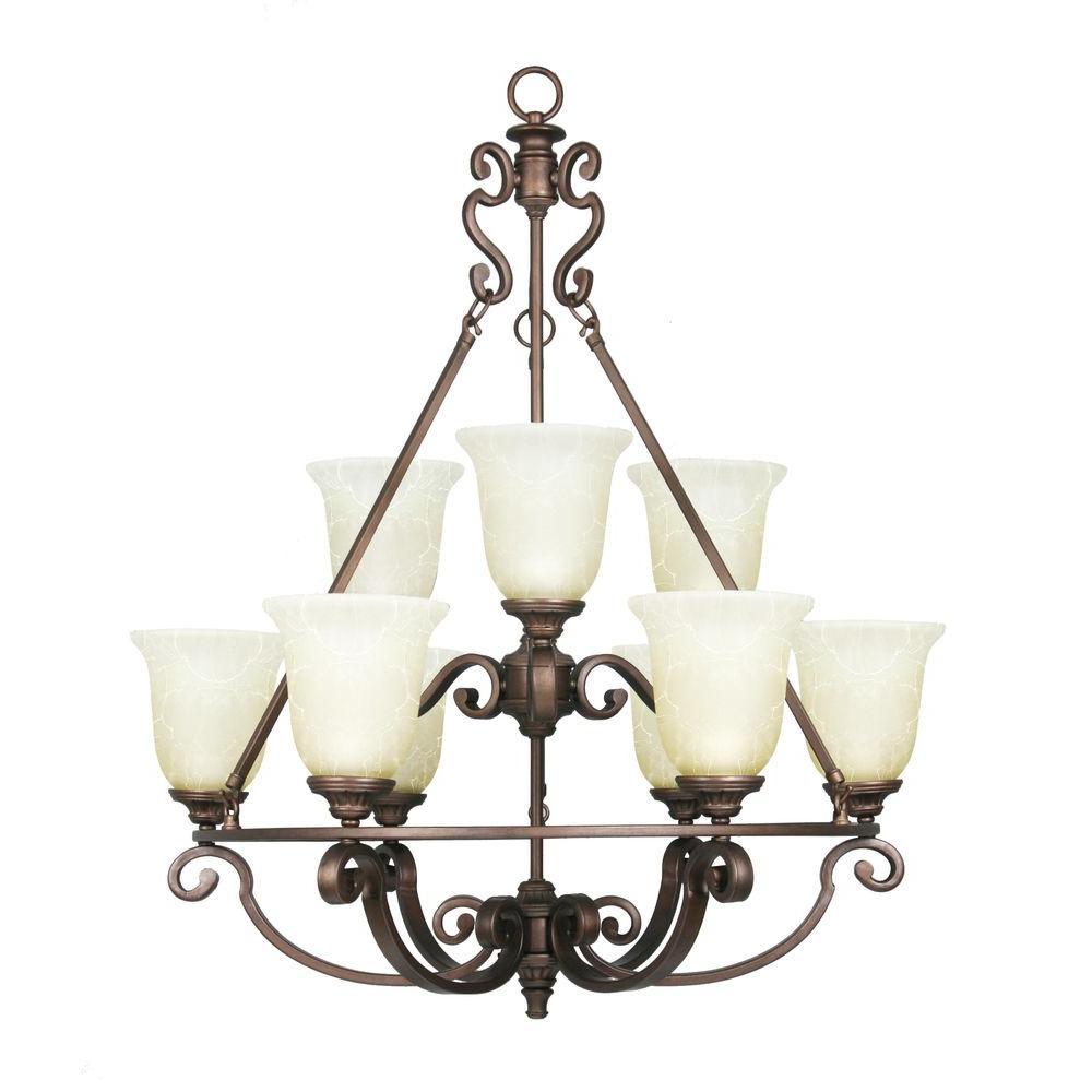 Home Decorators Collection Fairview 9-Light Heritage Bronze Chandelier
