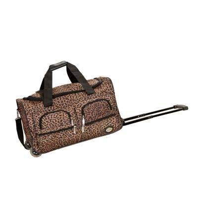 Rockland Voyage 22 in. Rolling Duffle Bag, Leopard