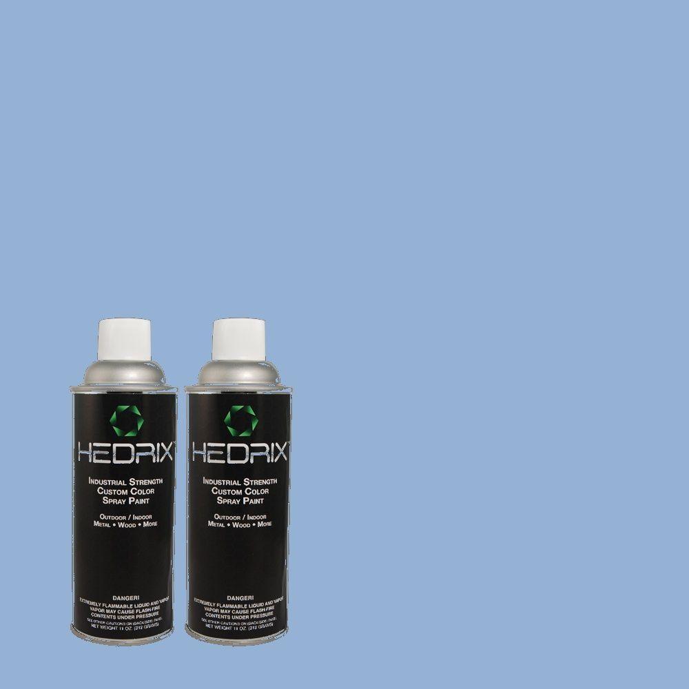 Hedrix 11 oz. Match of CH-21 Hydrangea Low Lustre Custom Spray Paint (2-Pack)