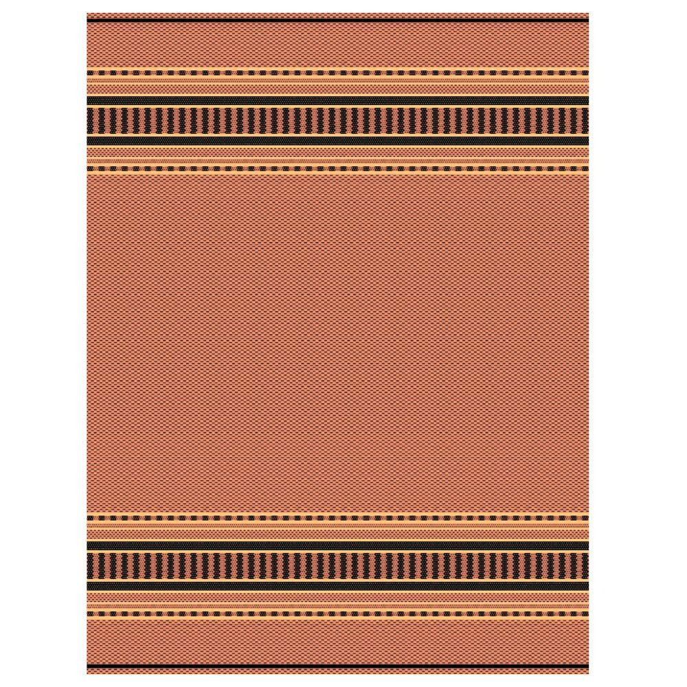 Home Decorators Collection Pueblo Design Terracotta/Black 3 ft. 9 in. x 5 ft. 5 in. Area Rug