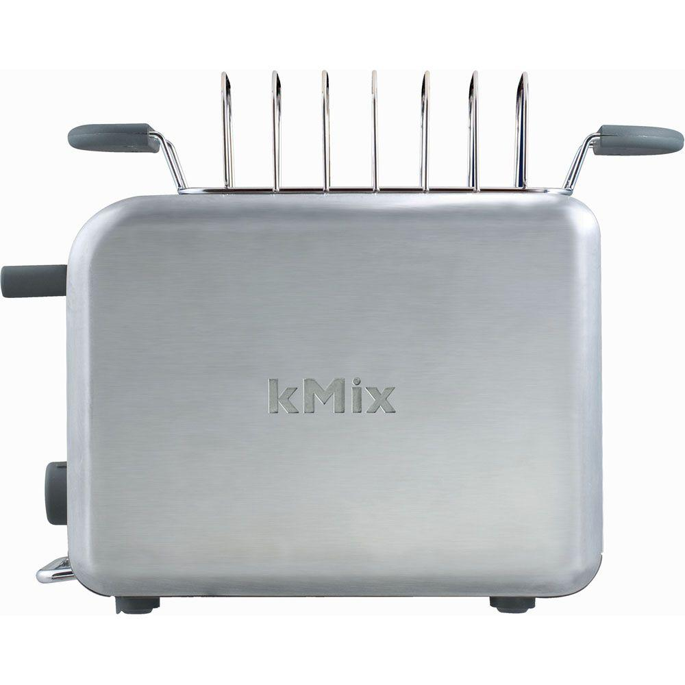 DeLonghi kMix 2-Slice Toaster with Bun Warmer in Stainless Steel-DISCONTINUED