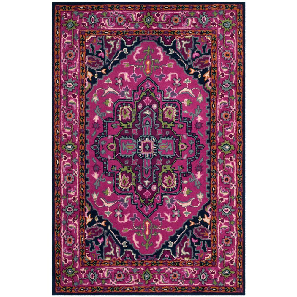 Safavieh Bellagio Pink/Navy 4 Ft. X 6 Ft. Area Rug-BLG541C