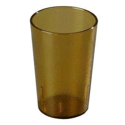 9.5 oz. SAN Plastic Stackable Tumbler in Amber (Case of 72)