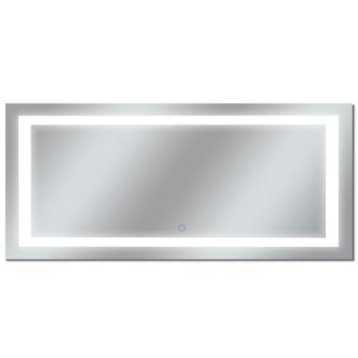 Edition 88 in. x 38 in. Tri-Color Wall Backlit Single LED Mirror with Touch On/Off and Anti-Fog Function