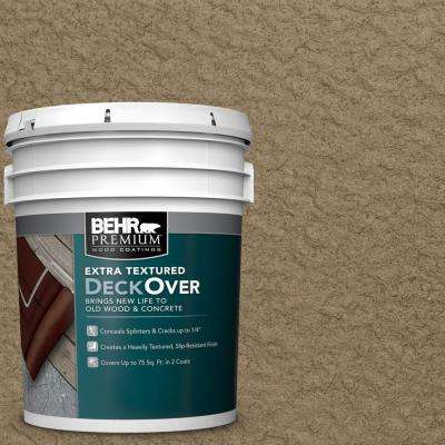 5 gal. #SC-153 Taupe Extra Textured Solid Color Exterior Wood and Concrete Coating