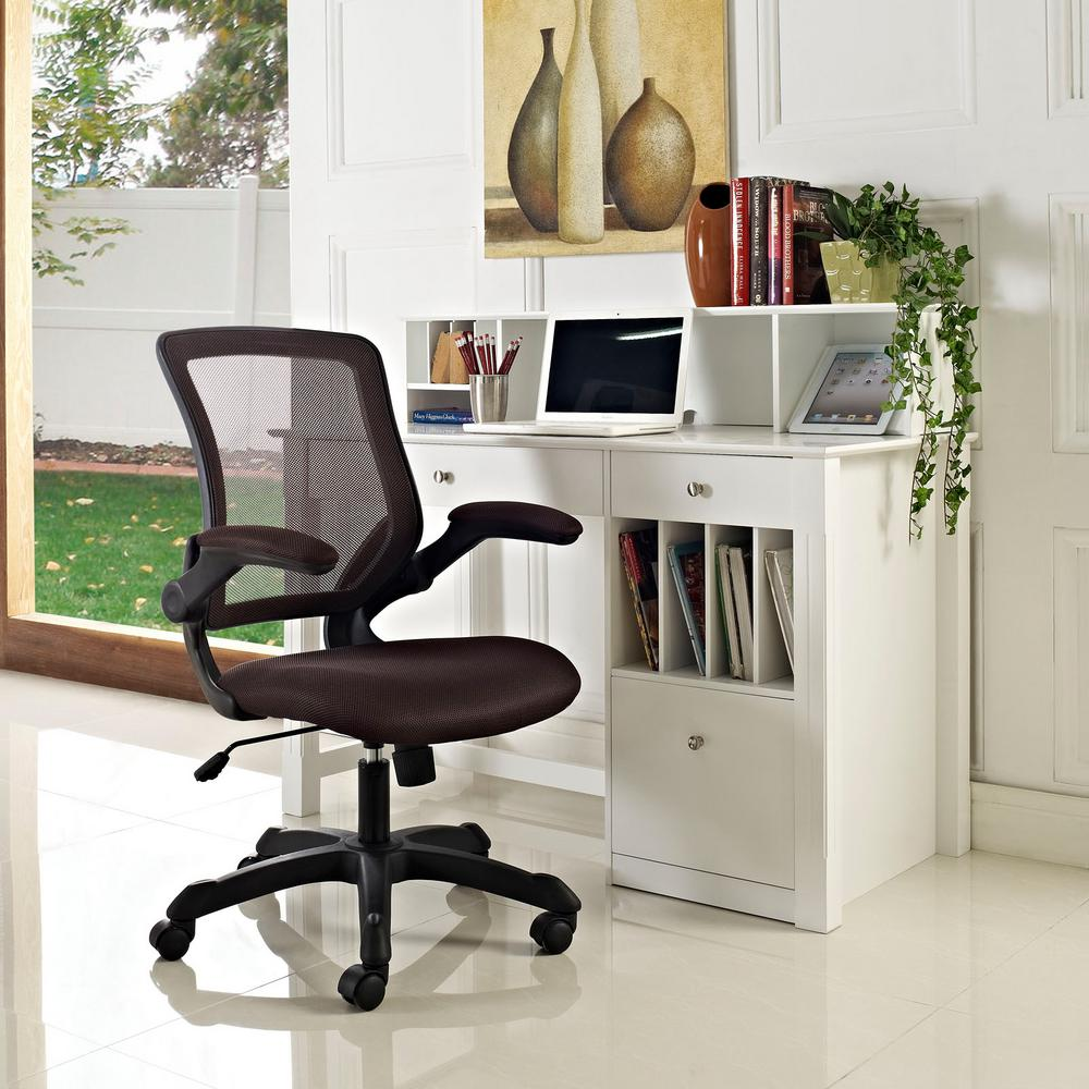 Modway Veer Mesh Office Chair In Brown