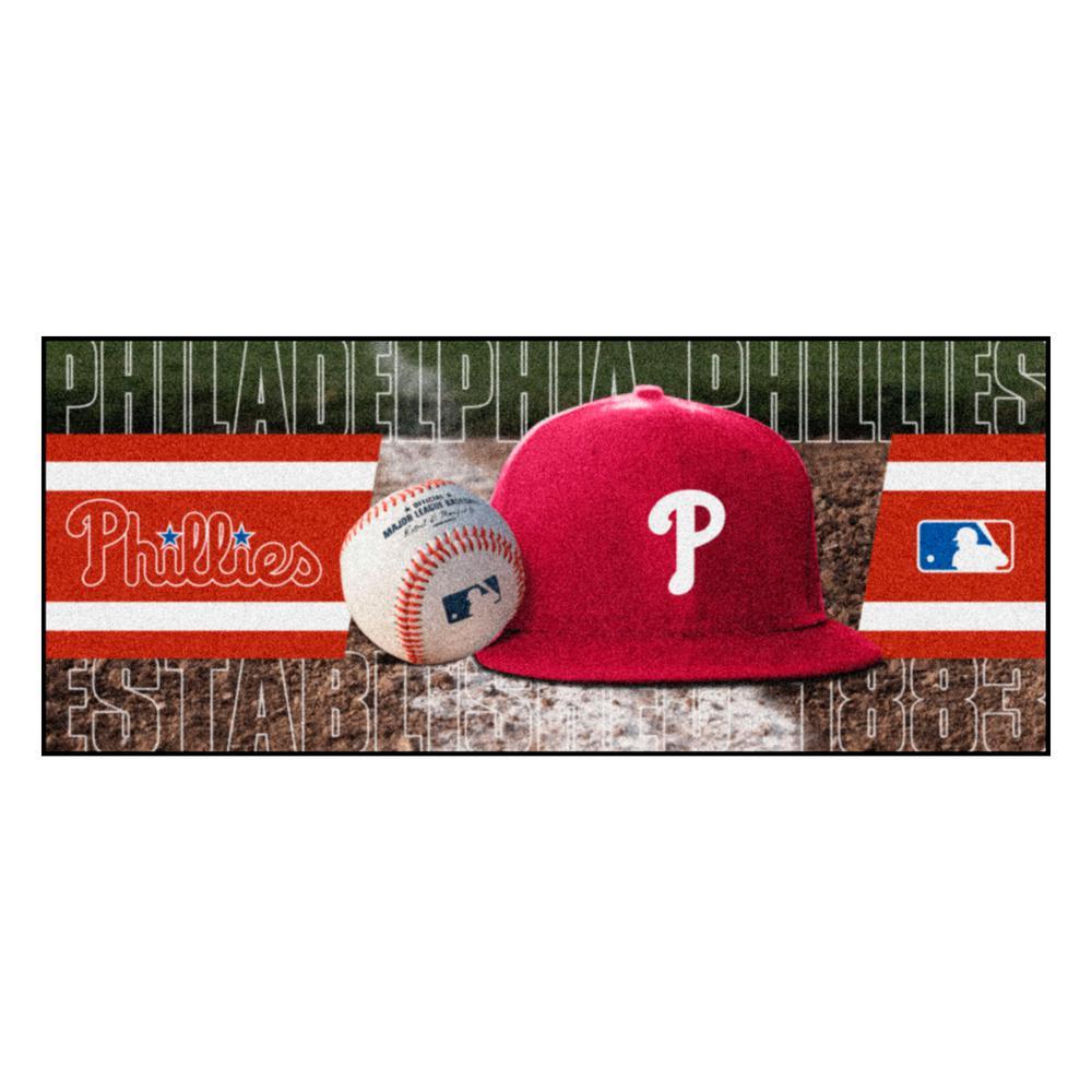 Philadelphia Phillies 3 ft. x 6 ft. Baseball Runner Rug