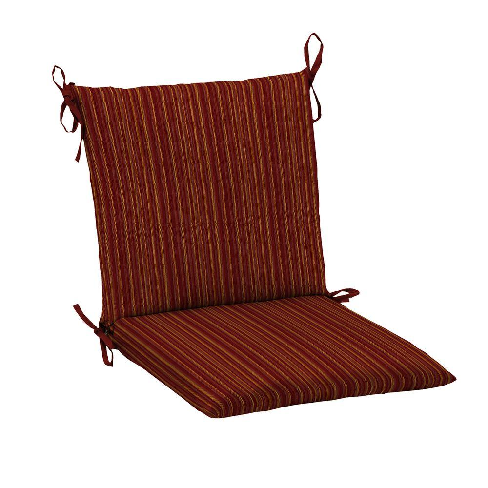 hampton bay harris southwest mid back outdoor chair cushion ff96552b 9d4 the home depot. Black Bedroom Furniture Sets. Home Design Ideas