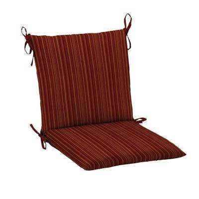 outdoor dining chair cushions Fade resistant   Striped   Hampton Bay   Outdoor Dining Chair  outdoor dining chair cushions