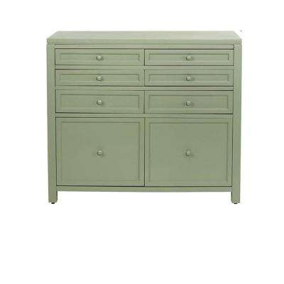 Craft Space 8-Drawer Scrapbooking Base in Rhododendron Leaf