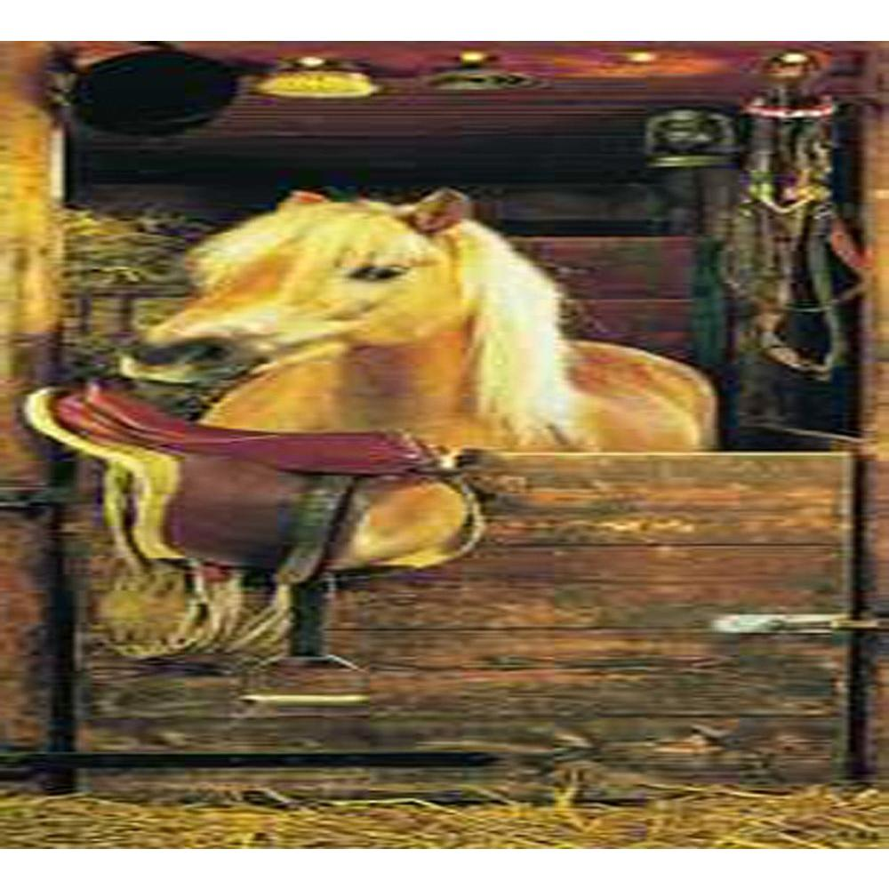 Washington 33 in x 86 in Dreamy Pony Door Wall Mural DS5068 The