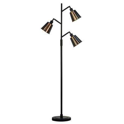 70.25 in. Headland Copper Black Floor Lamp