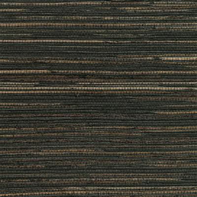 8 in. x 10 in. Shandong Charcoal Ramie Grass Cloth Wallpaper Sample