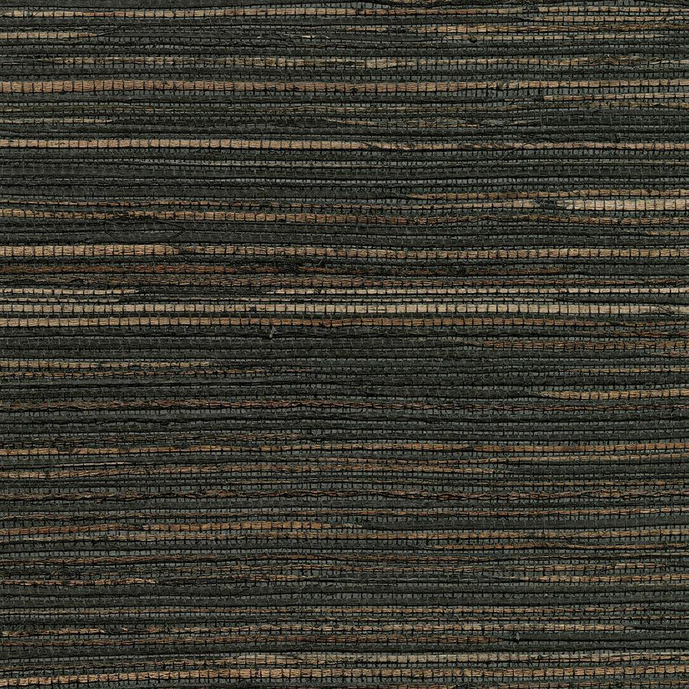 Shandong Charcoal Ramie Grasscloth Charcoal Wallpaper Sample