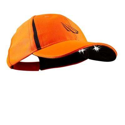 POWERCAP Blaze LED Hat 25/10 Ultra-Bright Hands Free Lighted Battery Powered Headlamp Blaze Orange Structured