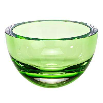 Penelope 6 in. Emerald Green Mouth Blown European Lead Free Crystal Bowl