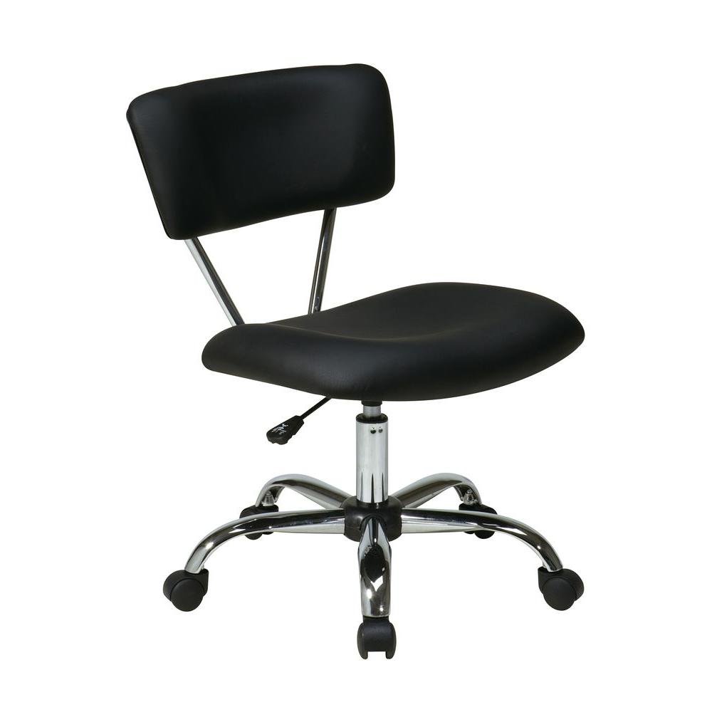 Ave Six Vista Black Vinyl Office Chair