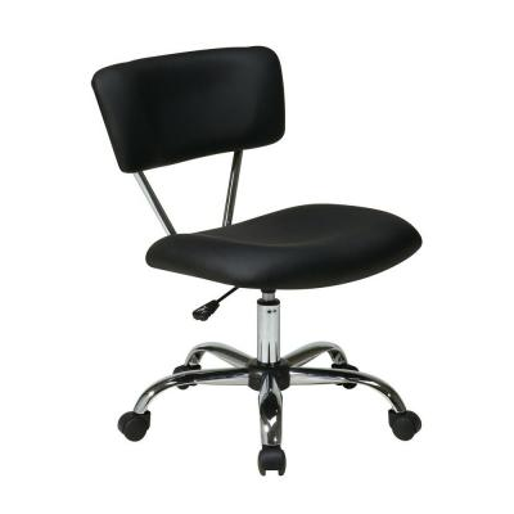 Vista Black Vinyl Office Chair