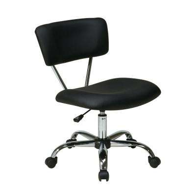 Vista Black Vinyl Office Chair