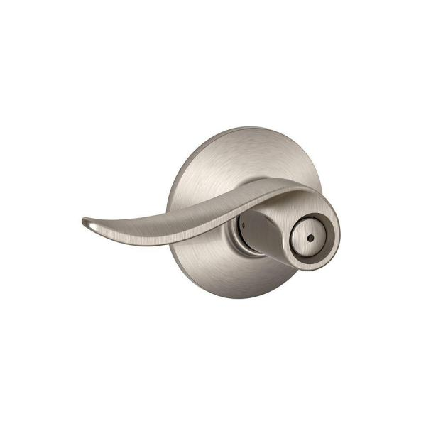 Sacramento Satin Nickel Privacy Bed/Bath Door Lever