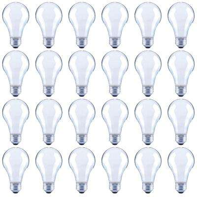 60-Watt Equivalent A19 Dimmable Frosted Vintage Edison Filament LED Light Bulb Bright White (24-Pack)