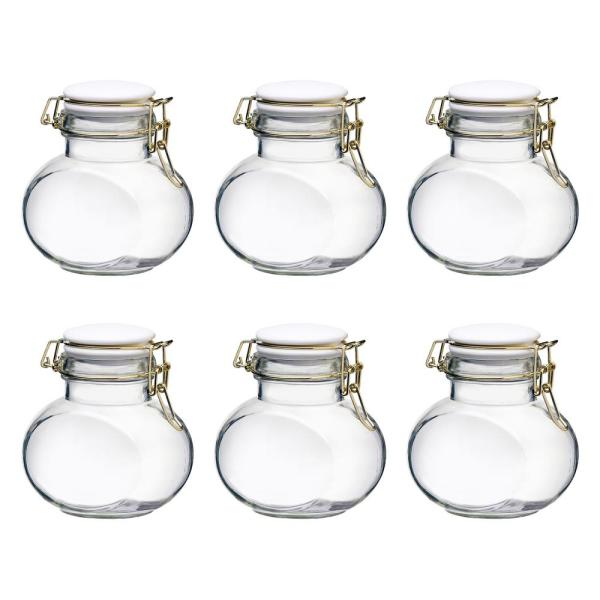 Amici Home Phoebe 16 oz. 6-Piece Glass Hermetic Mini Canister Set